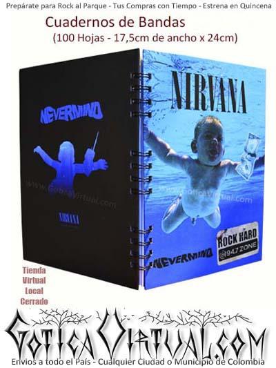 agenda cuaderno bandas nirvana nuevos escolar utiles envios pasto manizales medellin cucuta cali pereira