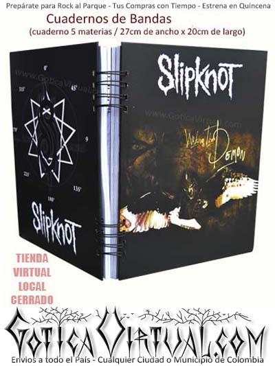 agenda cuaderno cinco materias escolar bandas rock envios colombia domicilios bogota soacha cali medellin cucuta