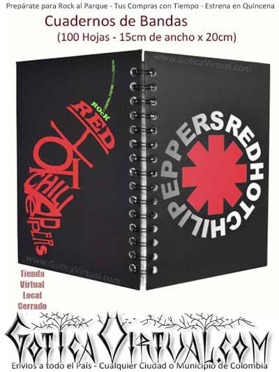 agenda cuaderno red hot chili peppers banda escolar utiles envios medellin colombia cali bogota pereira pasto