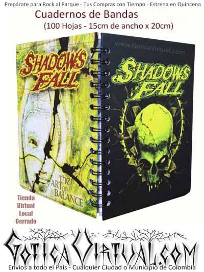 agendas escolar bandas shadowsfall cuaderno envios bogota soacha colombia cucuta popayan pasto