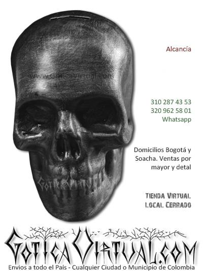 alcancia calavera decoraciones accesorios metaleros rockeros bogota venta online domicilios soacha suba usme tintal america portal 80 colombia