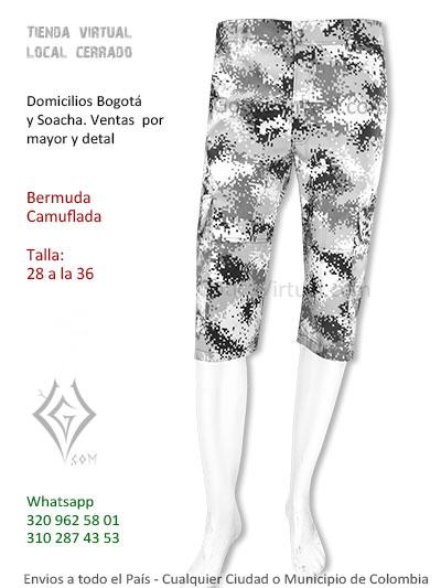 bermuda gris camuflada pixelada venta economica comoda bonita bogota domicilios envios tulua leticia boyaca villavicencio pasto mosquera colombia