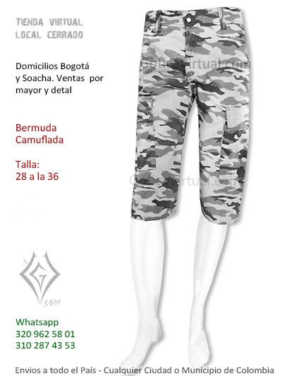bermuda anchada gris masculina rock metal boutique venta online domicilios bogota cesar pereora zipaquira colombia