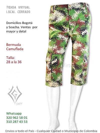 bermuda pantaloneta hombre camuflada masculina rockero metalero domicilios suba soacha bosa chapinero usme usaquen colombia