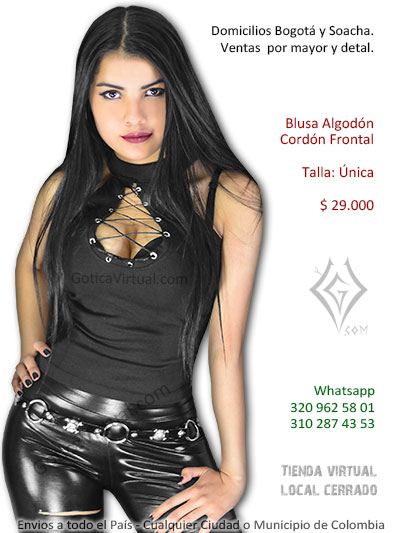 blusa cordon pecho escote bonita economica venta online rock metal bogota chia casanare cesar tunja huila santander colombia