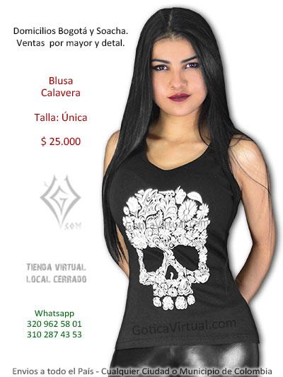 f722604ba blusa calavera negra esqueleto estampado bogota cali armenia valle leticia  mosquera pasto boyaca medellin venta online. Esqueleto Calavera - Envios  Colombia
