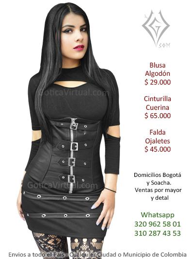 cinturilla metalera corset bajo del busto cintura estraple underbust down prendas accesorios dama mujer rockera metalera
