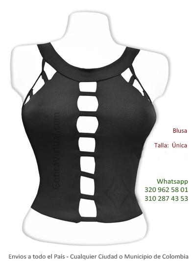 blusa escotada corta huecos sexy bonita tienda online domicilios soacha chia bogota usaquen suba chapinero chico colombia