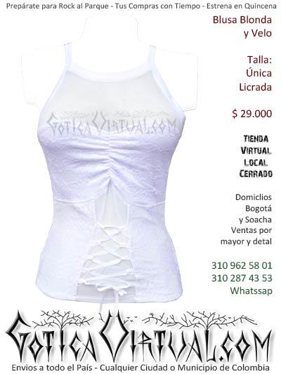 blusa esqueleto blanco corset prendas ropa boutique rockera metalera economica barata ventas envios comercio cali popayan santander guajiera tolima