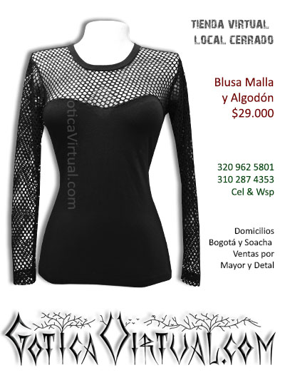Blusa Algodón y Malla