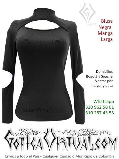 blusa algodon manga larga econmica tienda online negra bonita venta bogota cali neiva cucuta tolima caldas pasto colombia
