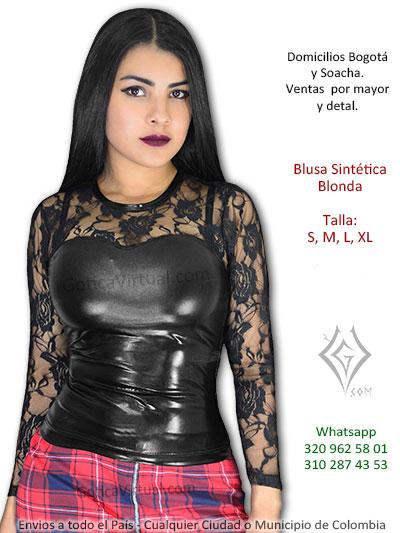 blusa sintetica blonda licrada bonita chica bogota envios domicilios soacha suba castilla engativa norte autopista colombia