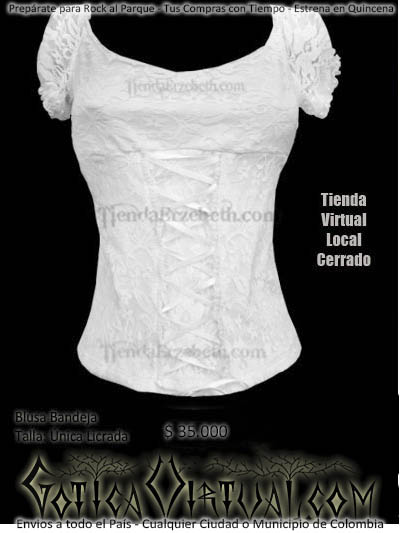 blusas blancas bogota bandeja manga corta campesina envios medellin cali manizales cucuta yopal barranquilla bucaramanga pereira