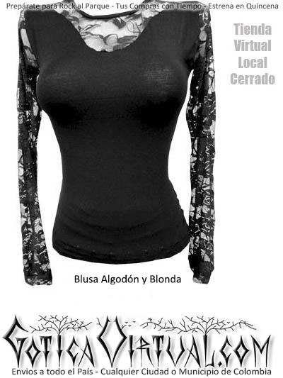 blusas blonda encage licradas stresh medellin cali pasto antioquia ropa metalera gotica mujer dama
