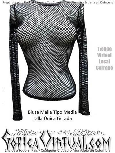 blusas malla bogota tipo media tienda erzebeth ropa metalera femenina dama linda rockera medellin cali pasto manizales