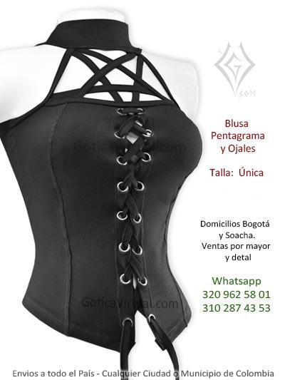 blusa algodon ojales pentagrama cordones bonita economica chica bluses bogota cali santander funza caldas villeta colombia