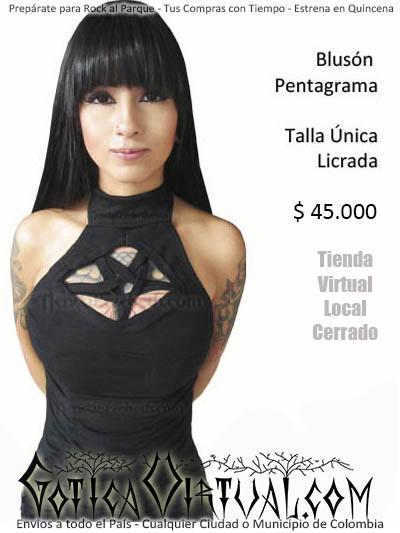 bluson pentagrama sexy rock metal gotico estilo envios domicilios bogota cali medellin popayan manizales pereira pasto tunja neiva