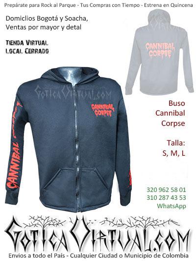 buso cannibal corpse algodon perchado bordado tienda online rock metal bogota cali cesar tunja quindio fusagasuga villavicencio colombia