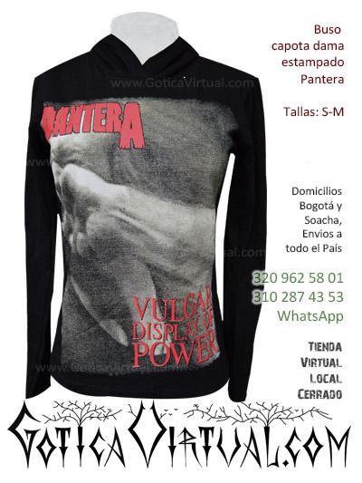 buso capota dama estamapado panterea gotica virtual venta camisetas negras ropa dama mujer tienda femenina mayorista fabrica colombia