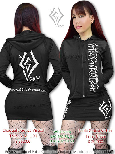 buso chaqueta falda marca gotica virtual venta tienda online rock metal bogota domicilios envios bogota chapineri suba bosa napoles quiroga