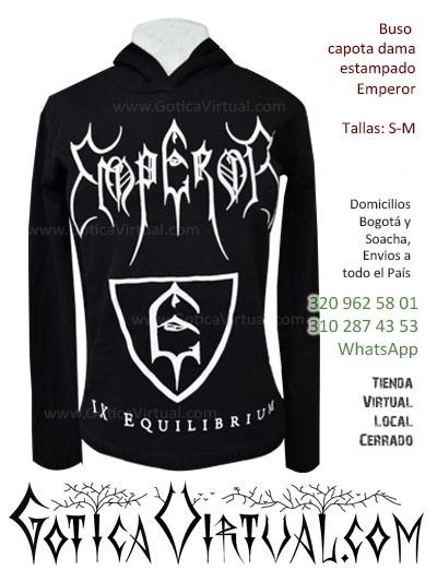 buso emperor estamapado para mujer bandas black dark metachos metaleros goticos fabrica bodega mayorista ventas por mayor colombia