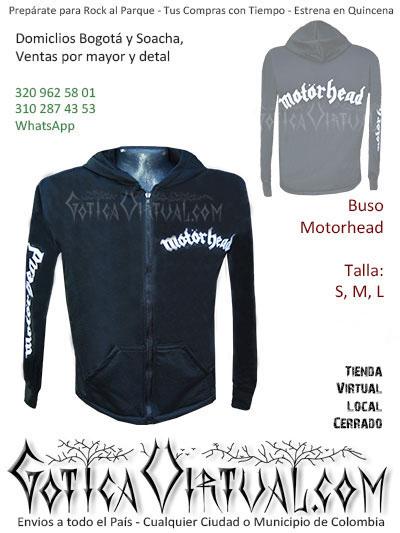 Buso motorhead masculino algodon perchado tienda online rock metal bogota cali valle pereira yopal villavicencio colombia