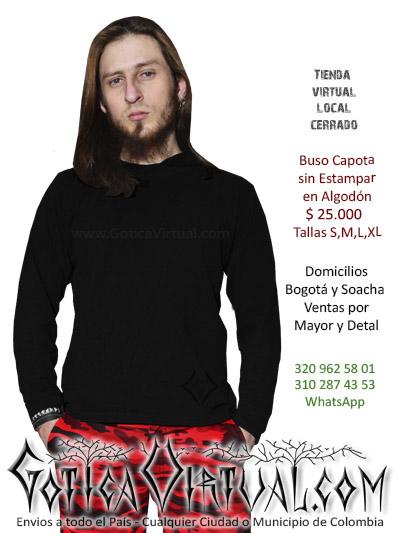 buso sin estampar chico masculino negro tienda online rock metal bogota cali tunja cesar quindio funza chia cauca colombi
