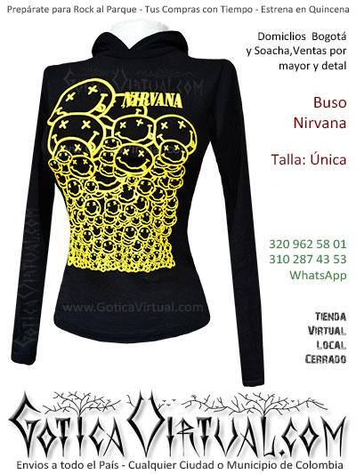 buso capota dama nirvana estampado envios toda colombia