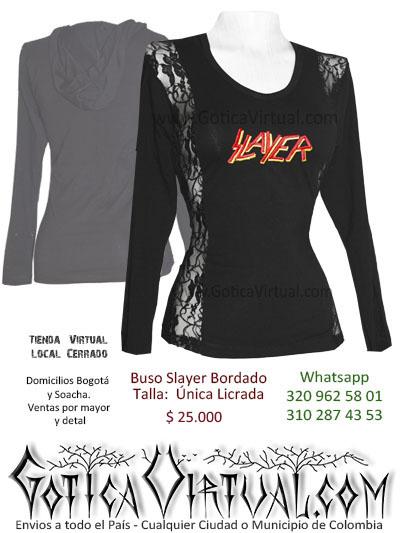 buso slayer femenino tienda online rock metal medellin armenia caldas tunja leticia medellin cucuta qundio pasto cali colombia
