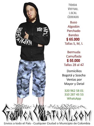 buso bordado bandas tienda online chico masculino algodon perchado venta boutique rock metal bogota manizales santander pereira boyaca tunja colombia