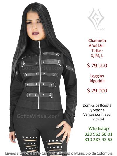 chaquetas bogota rock metaleras mayorista fabrica por mayor ventas bodega centro dark store madrugon importancion