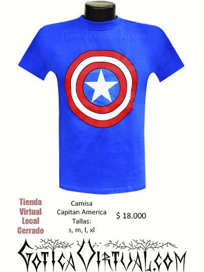 camiseta capitan america logo redondo superheroes domicilios bogota medellin soacha chia cali santander  halloween
