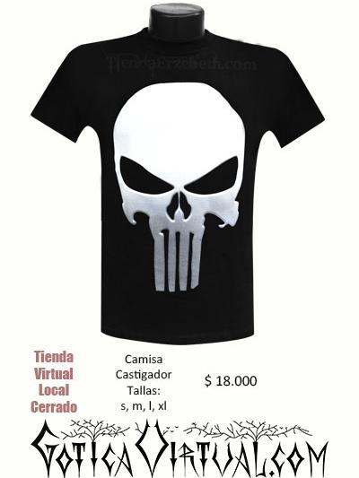 camisetas bogota estamapadas logo imagen castigador calabera blanca envios medellin cartagena barranquilla santa marta