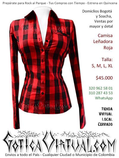 camisa lenadora roja mujer envios online bogota cali pasto cesar zipaquira armenia arauca cartagena colombia