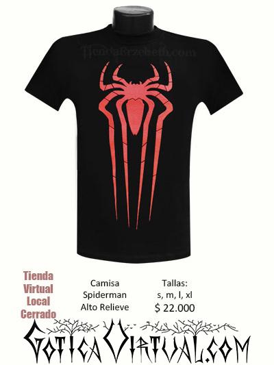 camiseta negra spiderman rojo s m l envios bogota colombia cali medellin cucuta boyaca tunja yopal