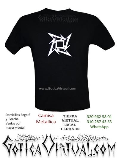 camiseta metallica hombre venta online domicilios bogota y soacha envios colombia