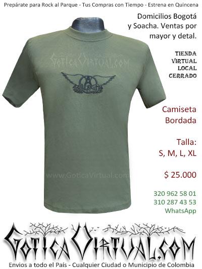 camiseta aerosmith bordada venta online domicilios bogota y soacha envios colombia