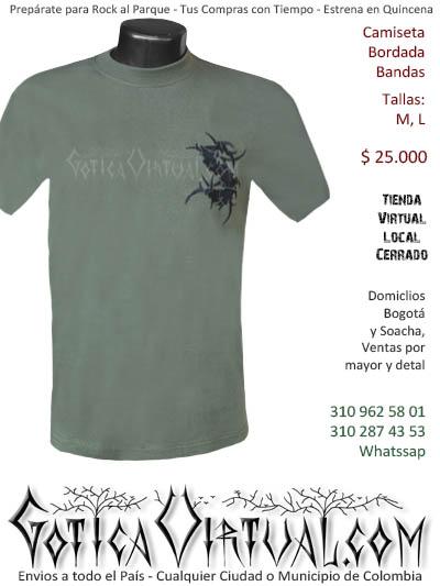 camiseta sepultura hombre negra  venta online domicilios bogota y soacha envios colombia