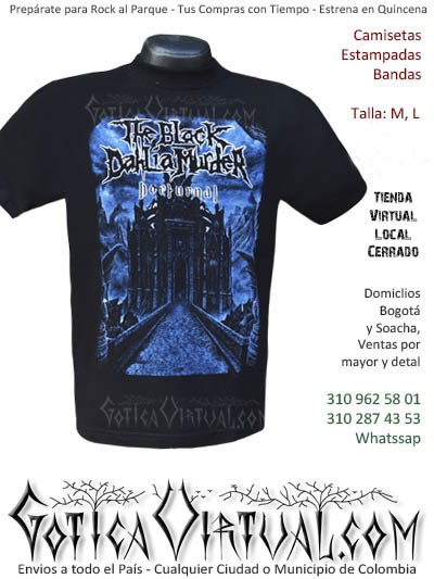 camiseta hombre the black dahlia murder venta online domicilios bogota y soacha envios colombia
