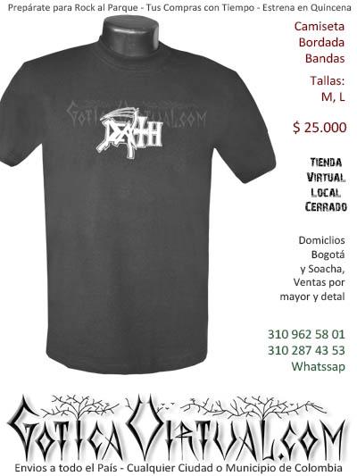 camiseta death hombre  bordada venta online domicilios bogota y soacha envios colombia