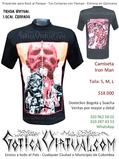camiseta iron man hombre civil war venta domicilios bogota soacha envios colombia