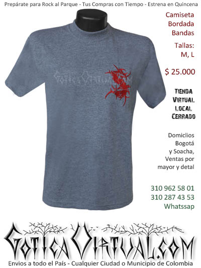 camiseta sepultura hombre negra bordada venta online domicilios bogota y soacha envios colombia