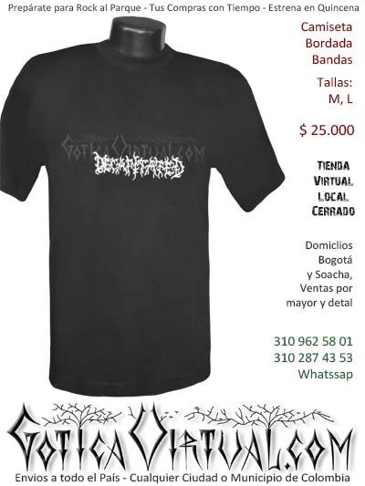 camiseta decapitated hombre negra bordada venta online domicilios bogota y soacha envios colombia