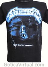 camiseta metallica ride he lightning tienda online rock metal bogota colombia