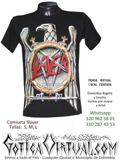 camiseta slayer concierto bogota 2017 venta online rock metal boutique villeta tunja huila manizzales tunja quindio colombia