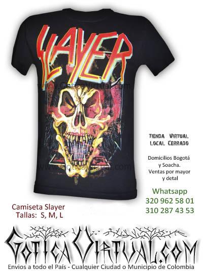 camiseta slayer tienda online rock metal medellin risaralda tunja cali valle colombia