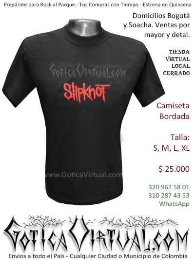 camiseta slipknot bordada venta online domicilios bogota y soacha envios colombia