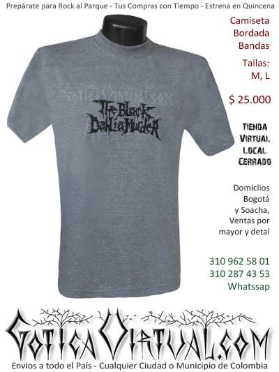 camiseta blackdahliamurder hombre negra bordada venta online domicilios bogota y soacha envios colombia