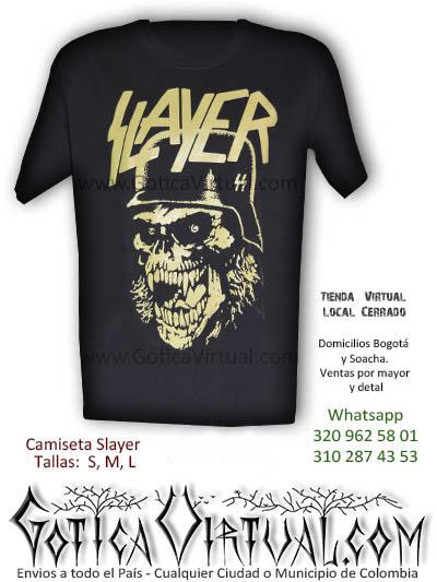 Camiseta Slayer masculina concierto bogota 2017 venta online tunja cesar funza zipaquira quindio colombia