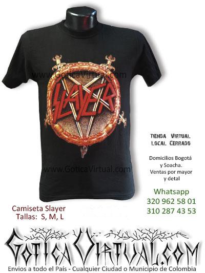Camiseta slayer tienda online rock metal cali armenia cesar mosquera tulua leticia concierto bandas 2017 bogota colombia